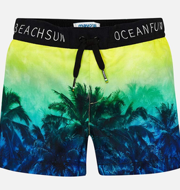 Mayoral Palm Tree Print Swim Shorts for Boy