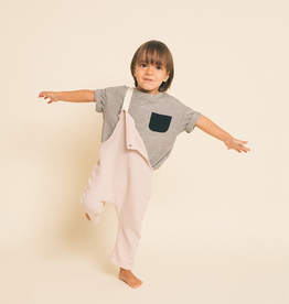 Greige Greige, The MIx it up Tee With Pocket for Baby