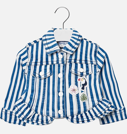Mayoral Striped Denim Jacket for Baby Girl