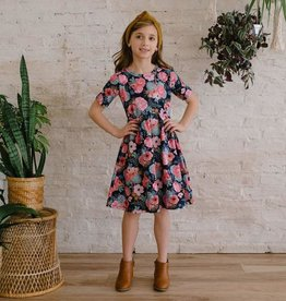 Little and Lively Cactus Floral Daphne Twirl Dress for Girl