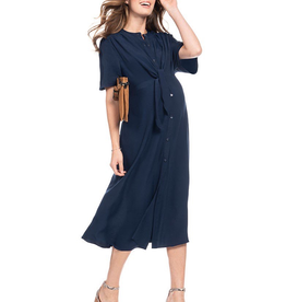 Seraphine Bitzy Button Down Midi Maternity Dress