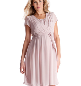 Seraphine Pleated Maternity & Nursing Dress