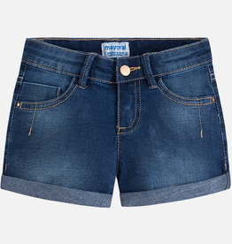 Mayoral Girls's Denim Rolled Hem Shorts