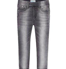 Mayoral Super Slim Fit Denim Trousers for Girl in Light Grey