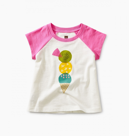 Tea Collection Triple Treat Baby Graphic Tee for Baby Girl