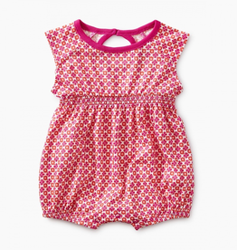 Tea Collection Printed Keyhole Romper for Baby Girl
