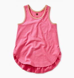 Tea Collection Solid Ruffle Tank for Girl