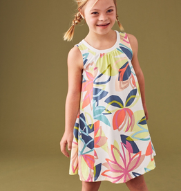 Tea Collection Tradewinds Floral Printed Trapeze Dress for Girl