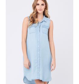 Ripe Maternity Sleeveless Weekend Shirt Maternity & Nursing Dress