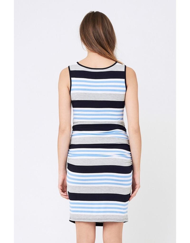 Ripe Maternity Stripe Maternity & Nursing Dress