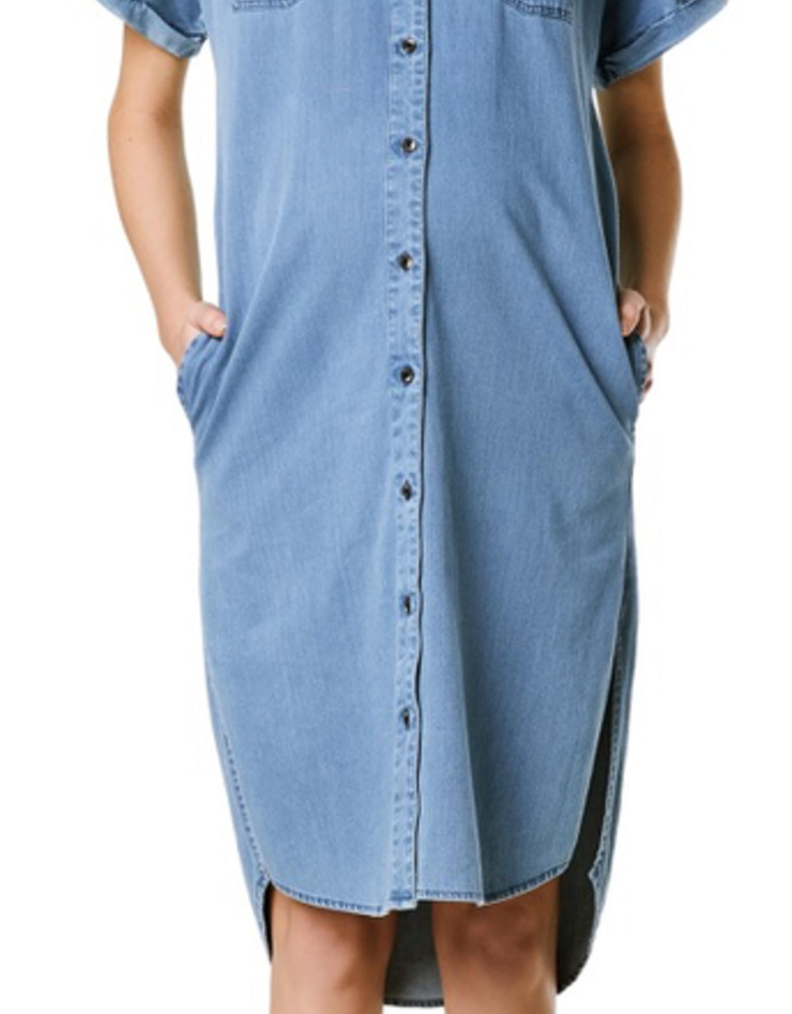 Supermom Short Sleeve Denim Dress