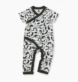 Tea Collection Panda Wrap Romper for Baby