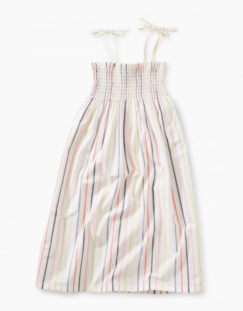 Tea Collection Tie Shoulder Midi-Length Dress