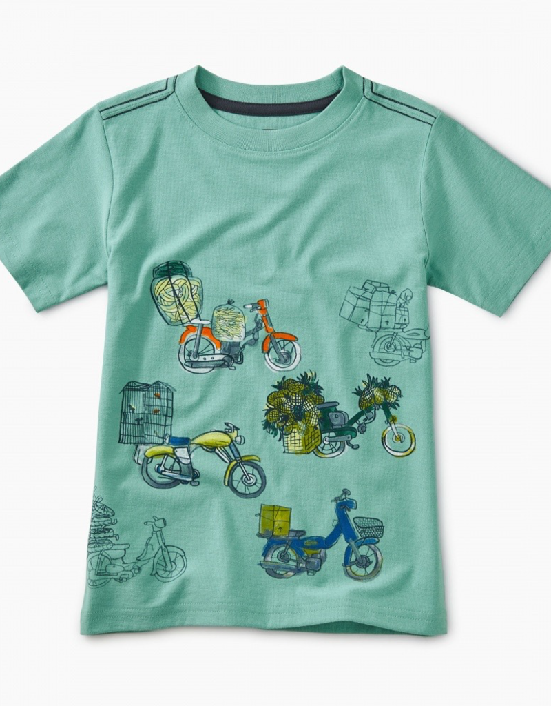 Tea Collection Scooter Traffic Graphic Tee