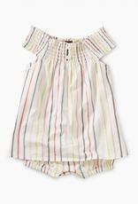 Tea Collection Stripe Smocked Romper Dress for Baby Girl