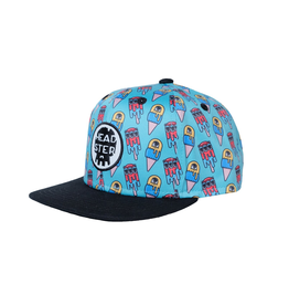 Headster Kids Monster Freeze Blue by LA CHARBONNE Snap Back Cap