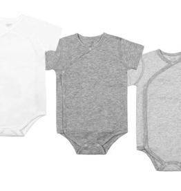 Nest Designs Organic Cotton Short Sleeve Kimono Onesie (3 Pack)