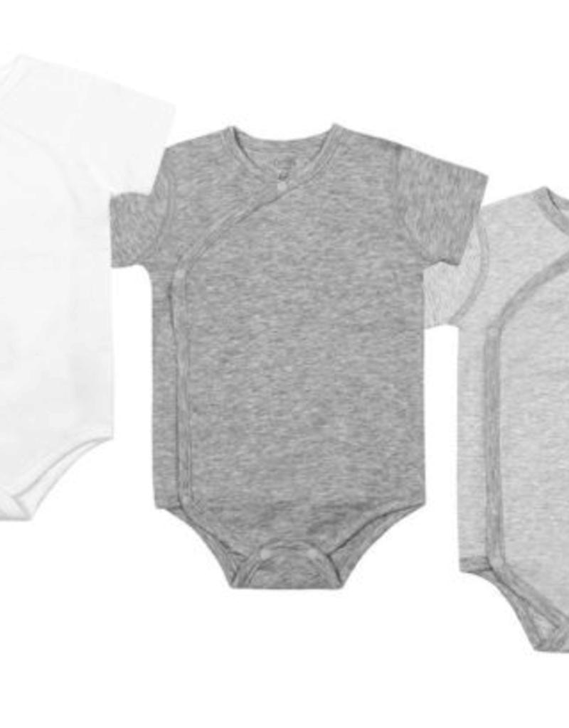 Nest Designs Organic Cotton Long Sleeve Kimono Onesie (3 Pack)