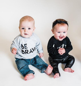 "Posh & Cozy ""Be Brave"" Block Print Crewneck Tee for Baby"