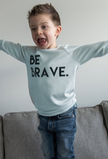 "Posh & Cozy ""Be Brave"" Block Print Crewneck Tee for Boy"