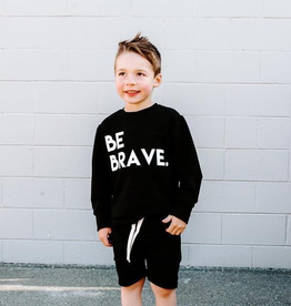 "Posh & Cozy ""Be Brave"" Block Junior Print Crewneck Tee for Boys"