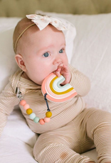 Loulou Lollipop Pastel Rainbow Silicone Teether