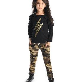 Appaman Amelie Long Sleeve Lightning Tee for Girl