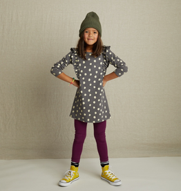 Tea Collection Leopard Spots Printed Ruffle Sleeve Dress for Girl