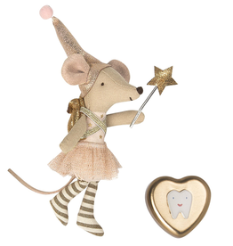 Maileg Tooth Fairy Big Sister Mouse with Tin