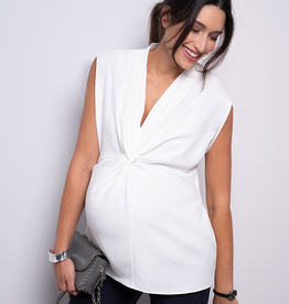 Seraphine Rylie Twist Short Sleeve Maternity Blouse