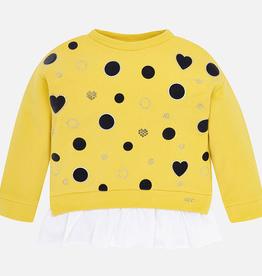 Mayoral Hearts and Polka Dot Pullover Sweatshirt for Girls