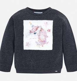 Mayoral Unicorn Pullover Sweatshirt for Girls