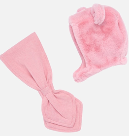 Mayoral Fur Hat and Scarf Set baby girl