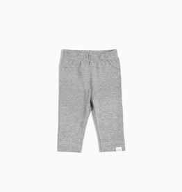 """Miles Basic"" Heather Grey Leggings for Baby Girl"