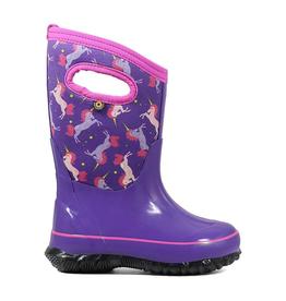 Bogs Kids' Classic Purple Unicorn Insulated Boots