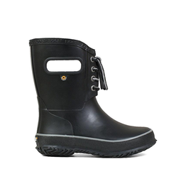 Bogs Kids' Amanda Black Plush Rain Boots