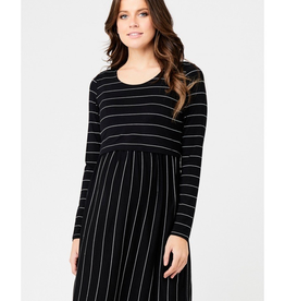 Ripe Maternity Crop Top Long Sleeve Nursing Dress
