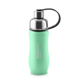 Thinksport Insulated Stainless Sports Bottle, Powdered coated, 12oz