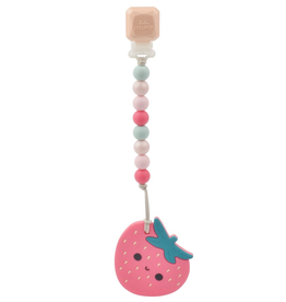Loulou Lollipop Strawberry Silicone Teether Set
