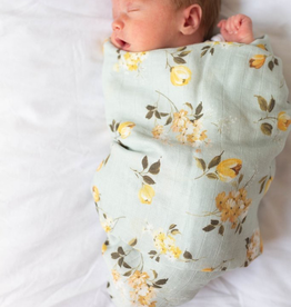 Loulou Lollipop Bamboo Muslin Swaddle - Wild Rose