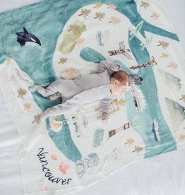Loulou Lollipop Bamboo Muslin Swaddle - Vancouver