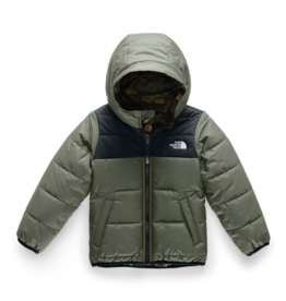 The North Face Toddler Boys' Reversible Perrito Jacket in New Taupe Green / TNF Black