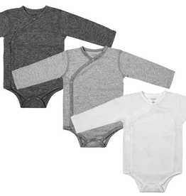 Nest Designs Organic Cotton Long Sleeve Kimono Onesie (3 Pack)