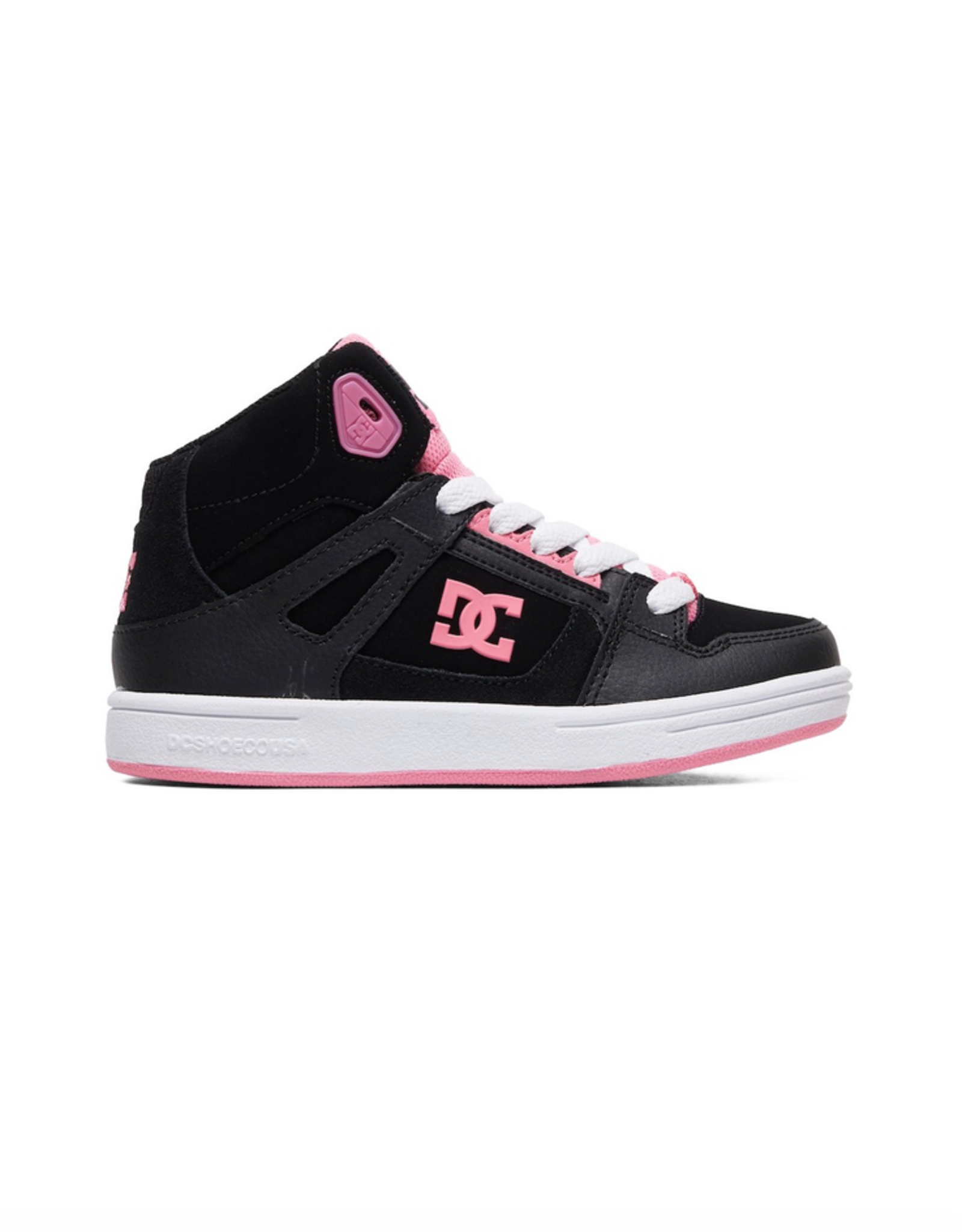 DC Shoes Kid's Pure Hi - High-Top Shoes in Black and Pink