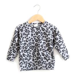 Posh & Cozy Leopard Crewneck Sweatshirt For Girls