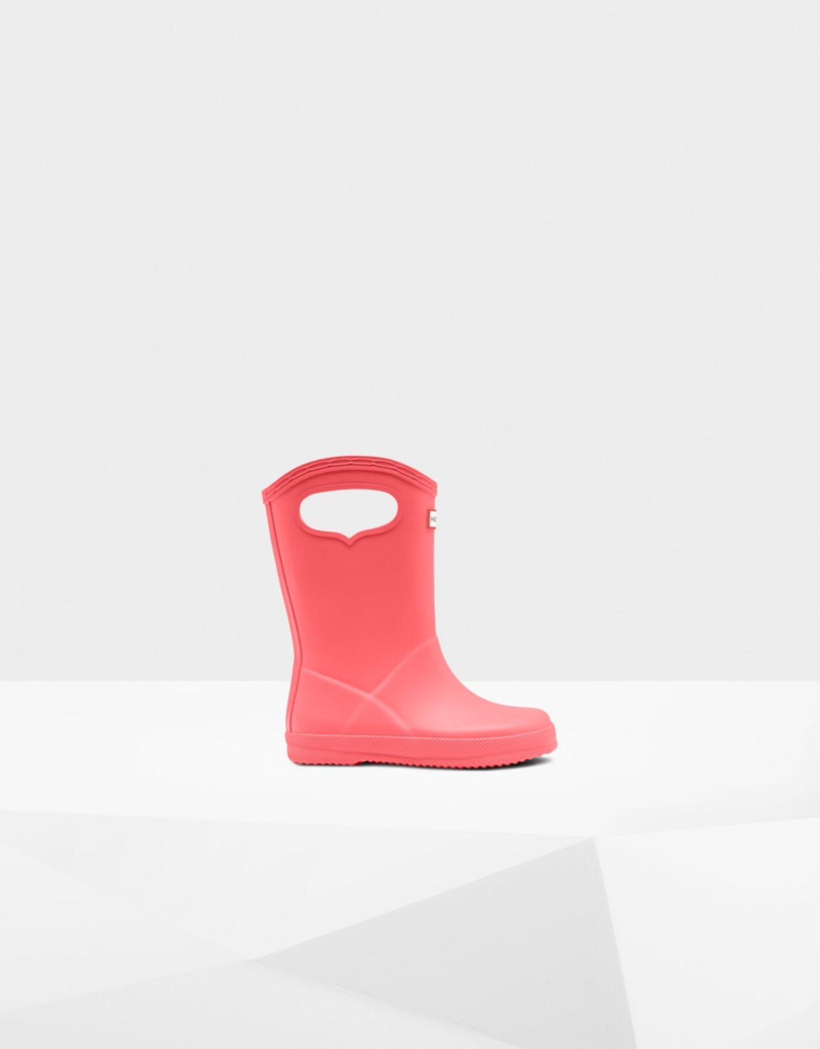 Hunter Boots Original Kids First Classic Grab Handle Rain Boots in Rhythmic Pink