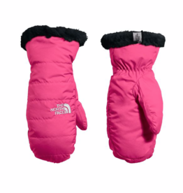 The North Face Mossbud Swirl Reversible Mitts for Girls in Mr. Pink