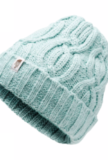 The North Face Youth Cable Minna Beanie in Windmill Blue