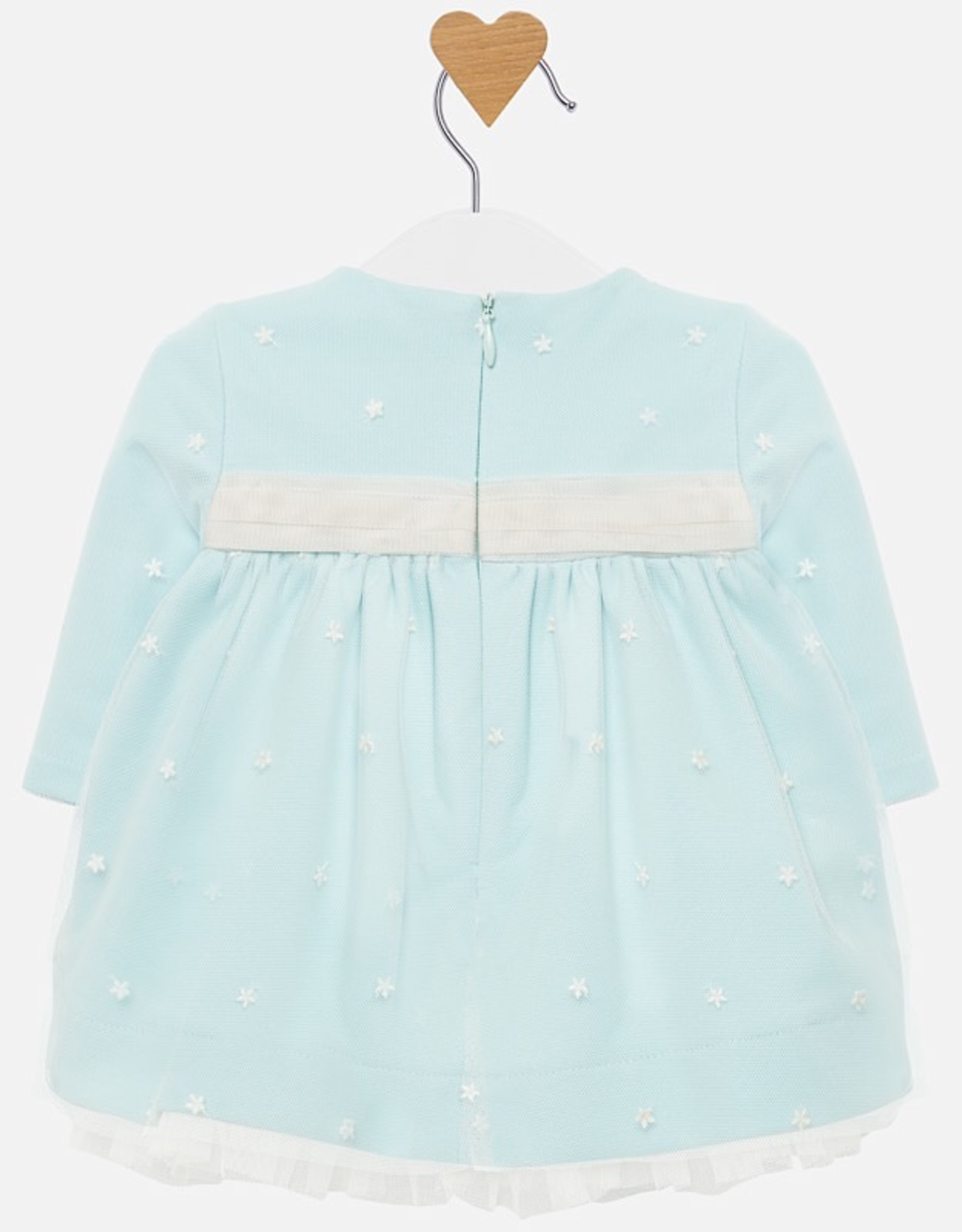 Mayoral Embroidered Tulle Dress for Baby Girl