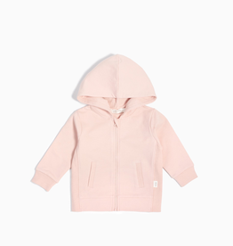 """Miles Basic"" Zip Up Hoodie for Girl in Light Pink"